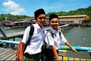 水上村學校的孩童