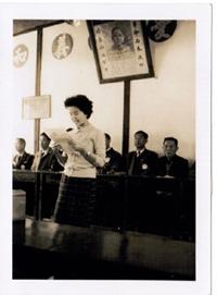 1965年在霧峰的歲寒三友會代表北醫做報告