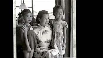林海音母女:小女兒祖麗(左), 大女兒祖美(右)