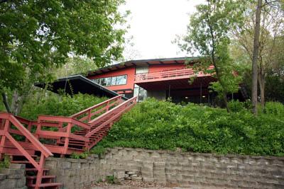鹿園的紅色屋宇