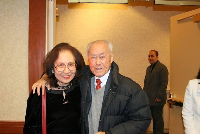 夏先生與孫康宜教授合影。(攝影:吳盛青教授)