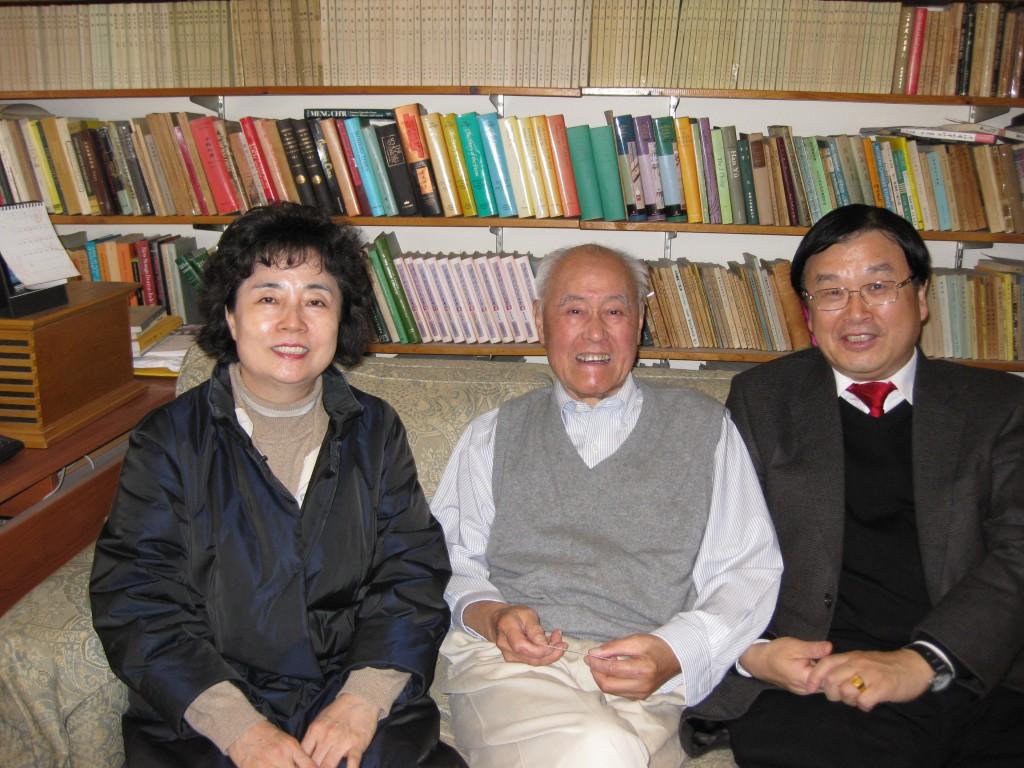 2010年韓國外國語大學教授朴宰雨夫婦拜訪夏志清教授
