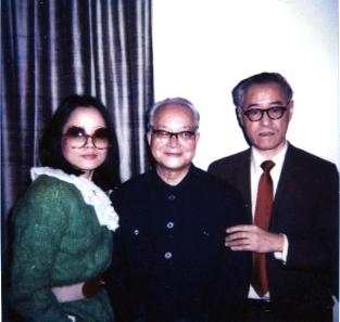 80年代沈從文訪美,與夏志清,叢甦合影(叢甦提供)