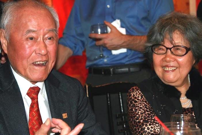夏先生及夫人王洞。(攝影:吳盛青教授)