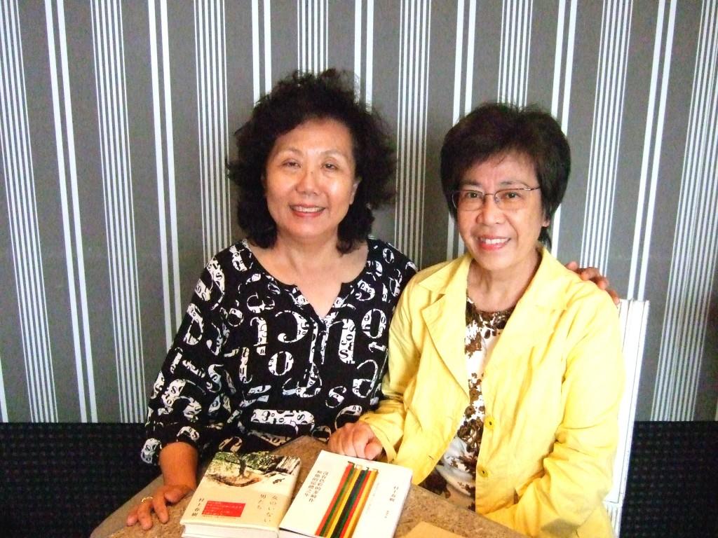 賴明珠(右)與作者。