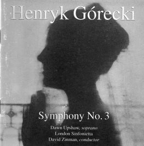 倫敦小交響樂團灌製的悲歌交響曲光碟封面。大衛·辛曼(David Zinman )指揮,這個樂團對樂曲的解讀和演奏堪稱完美。