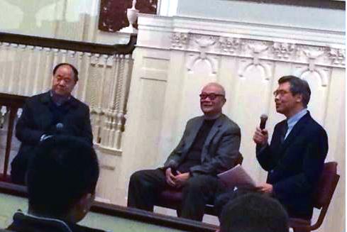 由左至右:莫言,哈金,王德威教授