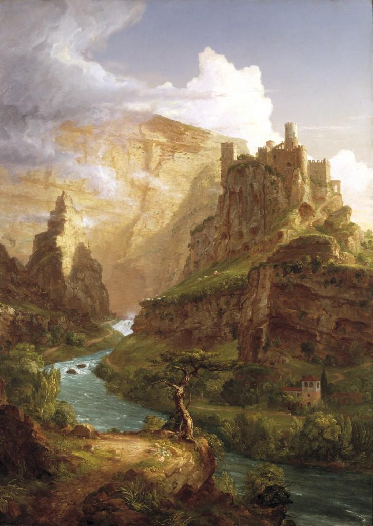 柯爾〈瓦庫魯斯泉〉1841 油彩畫布