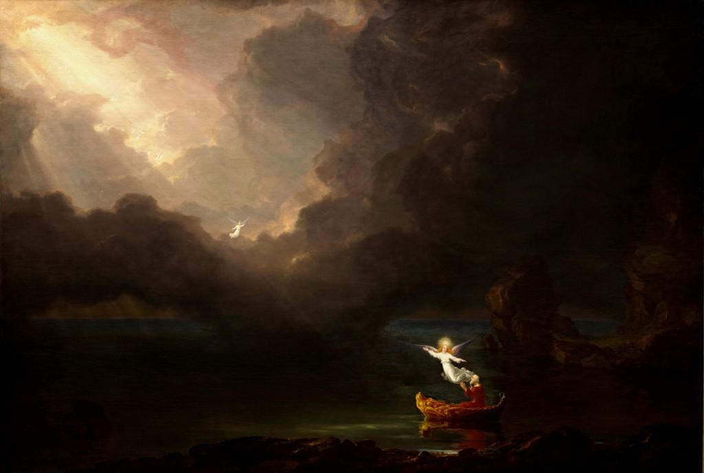 柯爾〈生命航行─老年〉1842 油彩畫布