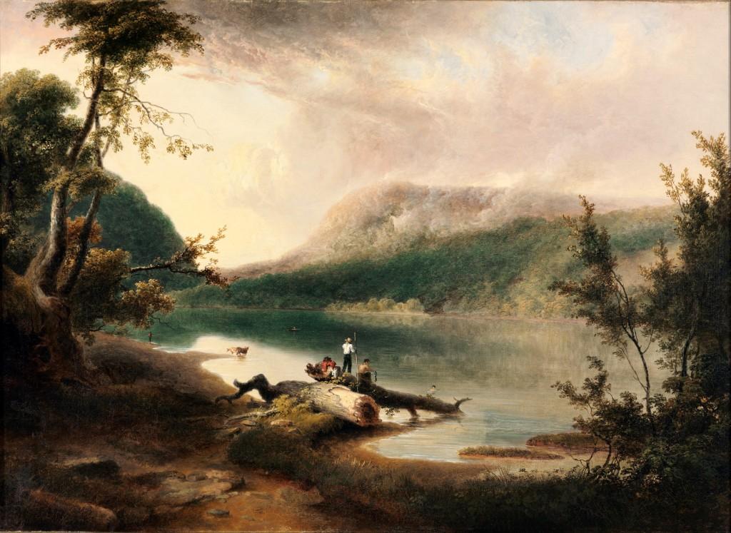 湯瑪斯‧道蒂〈德拉瓦水口〉1827 油彩畫布