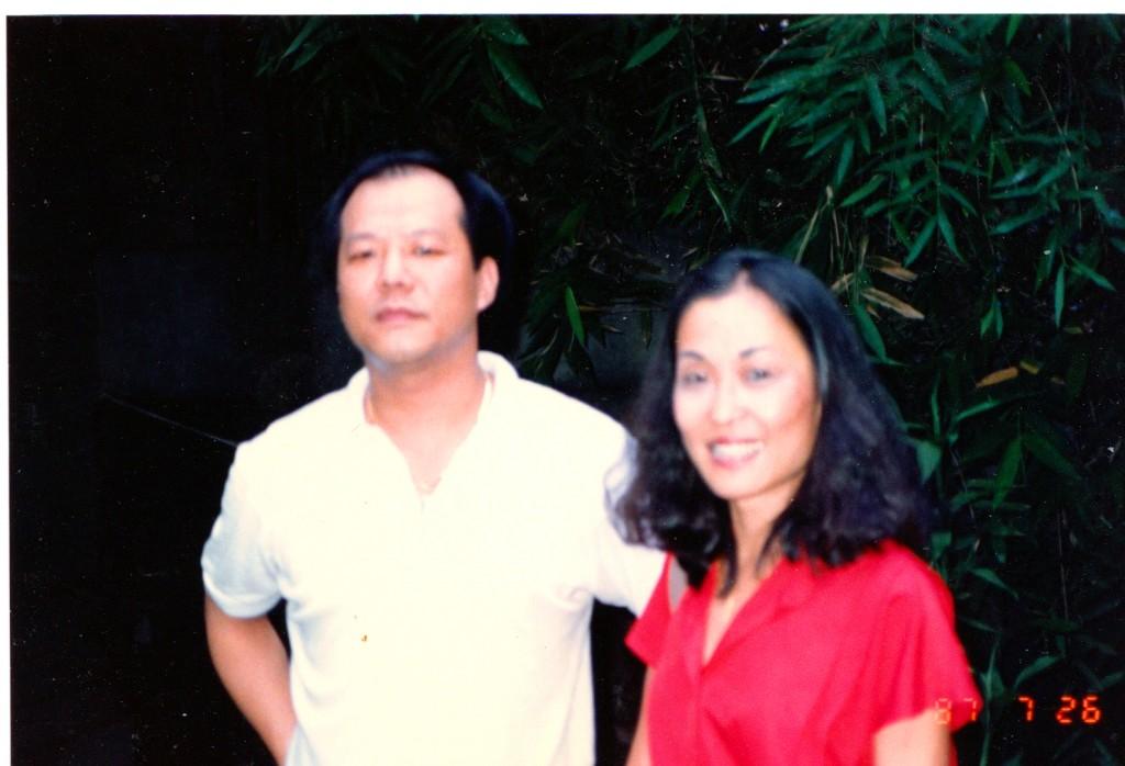 1987年,王曉藍與雷震的兒子。
